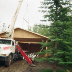 Hoisting Entire Roof on Garage