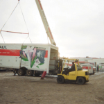 Hoisting U-Haul Box