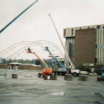 Tandem Crane Work on Stampede Grounds
