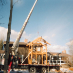 Timber Truss Work at Bragg Creek