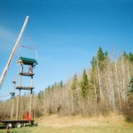 Zipline Building in Kananaskis
